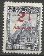 Turkey - 1929 Ankara Fortress Surcharge MH *     Mi 883 - Unused Stamps