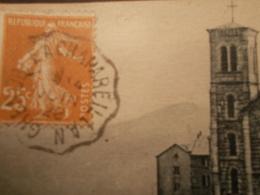 Marcophilie  Cachet Lettre Obliteration -  Convoyeur Grenoble à Chapareillan  - 1928 - (2114) - Postmark Collection (Covers)