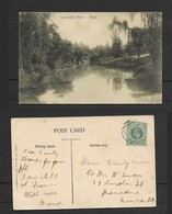 S.Africa, Umsindusi River, Natal, Used, 1/2d, , P.O.A.10  BONC > Newcastle Natal. - South Africa