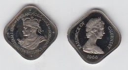 Guernsey Proof Coin Ten Shillings 10/- Dated 1966 - Guernesey
