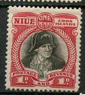 Cook Islands 1932 1p  Captain Cook  Issue #85  MH - Cookeilanden