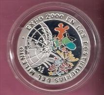 CUBA 10 PESOS 1998 EXPO 2000 ZILVER PROOF SCRATCHES ON CAPSEL - Cuba