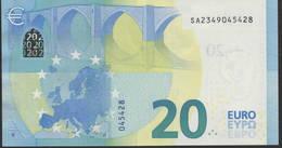 """EURO 20  ITALIA SA S017  """"34""""  DRAGHI  UNC - EURO"""