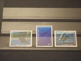 POLINESIA - 1994 BALENE  3 VALORI - NUOVO(++) - Polinesia Francese