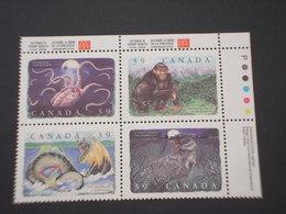 CANADA' - 1990 CREATURE/FAUNA 4 VALORI - NUOVO(++) - 1952-.... Regno Di Elizabeth II