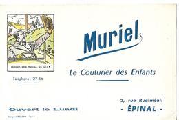 Buvard / VOSGES / EPINAL / MURIEL / Le Couturier Des Enfants / Image D'Epinal - Textile & Clothing