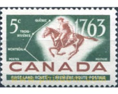 Ref. 29747 * MNH * - CANADA. 1963. BICENTENARIO DEL CORREO QUEBEC-MONTREAL. - 1952-.... Règne D'Elizabeth II