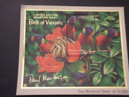 VANUATU - BF 1993 PAPPAGALLI  - NUOVO(++) - Vanuatu (1980-...)