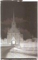 Dépt 80 - ÉQUENNES-ÉRAMECOURT - PLAQUE De VERRE (négatif Photo Noir & Blanc, Cliché R. Lelong) - ÉGLISE Et MONUMENT - France