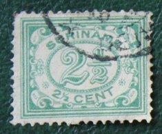 2 1/2 Ct Cijfer NVPH 73 1913-1931 Used / Gestempeld  SURINAME / SURINAM - Surinam ... - 1975