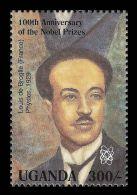 Uganda Louis De Broglie Nobel Prize In Physics France 1v Stamp MNH - Non Classificati