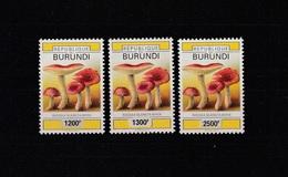 X] Série Set ** Burundi Champignon Surchargé Overprinted Mushroom 2008 -  Fortes Valeurs High Face Value. - Burundi