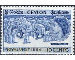 Ref. 207211 * MNH * - CEYLON. 1954. ROYAL VISIT . VISITA REAL - Famous People