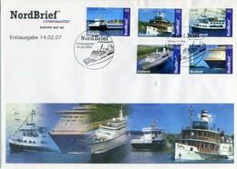 GERMANY 2007. FDC Private NordBrief Ships, Bercos, Bateaus. - [7] République Fédérale