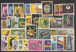 1959 Ghana ANNATA  YEAR 7 Serie Con 33v. (32/63) MNH** - Ghana (1957-...)