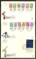 1961 Israele Israel ZODIACO  ZODIAC Serie Di 13v. Su 3 FDC 27/2/61 - Astrologia