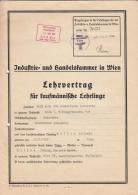 Lehrvertrag - F. Kaofmänn. Lehrlinge - 1941 - 5 Seiten - Alte Papiere