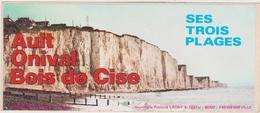 Vieux  Papier : Autocollants :  Somme  AULT ,  Ses  Trois  Plages  ( Imp. Fressenneville) - Autocollants