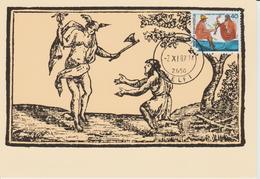 Grèce Carte Maximum 1987 Fables D'Esope 1626 - Maximum Cards & Covers