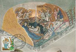 Grèce Carte Maximum 1987 Noel 1650 - Maximum Cards & Covers