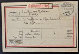 ETIQUETTE FELDPOST ENVOI DE COLIS De ISERLOHN > Aspirant Res. Inf. Regiment Nr4 Franchise Militaire 1916 - Marcophilie (Lettres)