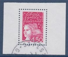 = Marianne De Luquet Dite Du 14 Juillet N°3096 Issu Du Bloc 42 Oblitéré 4f50 Rose - 1997-04 Maríanne Du 14 Juillet