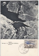 Carte-Maximum ALGERIE N° Yvert 365 (FOUM EL GHERZA) Obl Biskra 22.7.63 - Algeria (1962-...)