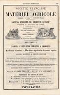 PUB 1881 Matériel Agricole Moissonneuse Locomobile Célestin Gérard à Vierzon Manufacture De Machines à Coudre Thabourin - France