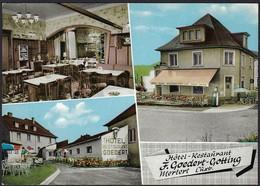 Mertert  Hôtel-Restaurant F.Goedert-Gotting, Carte Semi-moderne (2scans) - Cartes Postales