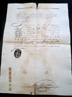 PORTUGAL - ILHA DE MAIO - CABO VERDE 1833 CARTA DE SAUDE Porto Livre De Peste Navio Em Viagem A BUENOS AIRES - - Documentos Históricos