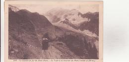 CPA - 254. Le Chemin De Fer Du MONT BLANC Le Train à La Descente Du MONT LACHAT ALT 2100 M - Chamonix-Mont-Blanc