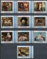 FUJEIRA Peinture: Painting, Impressionnistes Michel 224/33** MNH. Courbet - Manet - Velazquez - Goya - David - Whistler - Impressionisme