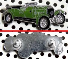 1 Grand Pin's Double Attache BENTLEY De Sport 4,5 Litres 1930 émaillé Chromé - Pin's