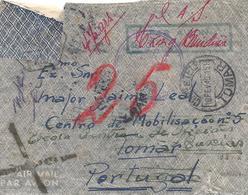 Macau 1940 Hong Kong Airmail Via Brindisi Cancelled Censored Military Cover - Hong Kong (...-1997)