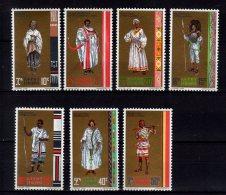 1971 Ethiopia - Provincial Costumes Of Ehiopia - Warriors, MNH**MiNr. 659 - 665    (bsh) - Costumes