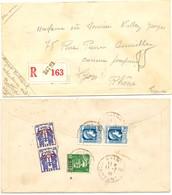 ALGERIE ENV 1945 BATNA CONSTANTINE LETTRE RECOMMANDEE AVION - Algérie (1924-1962)