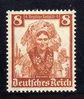 Deutsches Reich, 1935, Mi 592 ** Nothilfe-Volkstrachten [250818LAII] - Alemania