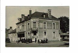Cpa Carte Photo BESSE SUR BRAYE Hotel De La Gare Propriétaire MORANCAIS Café Restaurant Pas De Porte Animé - France