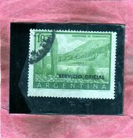 ARGENTINA 1955 1961 OFICIAL STAMPS SERVICIO OFFICIAL CLIFFS OF HUMAHUACA CACTUS QUEBRADA PESOS 10p USATO USED OBLITERE' - Servizio