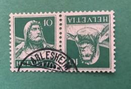 20460 - Tête-Bêche N° K18  10 Cts Vert Buste De Tell Oblitéré Arlesheim - Inverted (tête-bêche)