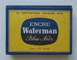 - Ancienne Boite De Cartouches D'encre En Verre - Cartouches Vides - - Autres Collections