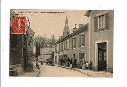 Cpa CHARTRETTE Hotel Restaurant MORIN Animation En Terrasse - éd Morin - France