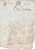 Acte Notarié Vente 1821 Mouzay Indre Et Loire - Manuscripts