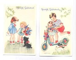 Willy Schermele, Twee Kinderkaarten (beide Gescand) - Verjaardag