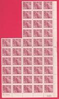 Chine 1949 - N°833 Neuf - Feuillet De 42 Timbres TTB - Feuille Numérotée - Unused Stamps