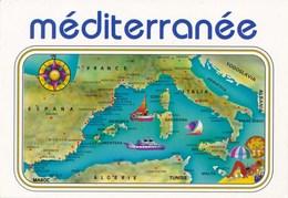 Carte Géographique - La Méditerranée - Cartes Géographiques