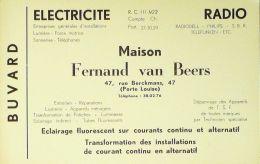 BUVARD ANCIEN-ELECTRICITE-MAISON FERNAND VAN BEERS-BRUXELLES-52-1929 - Electricité & Gaz