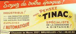 BUVARD ANCIEN-TINAC-LA COMMANDE A DISTANCE-BRUXELLES-50-1939 - Electricity & Gas