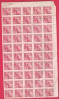 Chine 1949 - N°835 Neuf - Feuillet De 50 Timbres TTB - Numéroté - 1949 - ... People's Republic