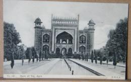 MONDOSORPRESA INDIA, GATE OF TAJ, AGRA  PRIMI 900 NON VIAGGIATA, ANIMATA - India